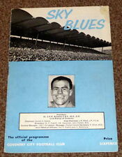 FOOTBALL LEAGUE DIVISION 2 1965-66 COVENTRY V MANCHESTER CITY PROGRAMME