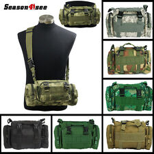 1XTactical MOLLE Utility 2-Way Bag Waist Shoulder Pack Airsoft Travel Camp Pouch