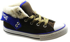 Converse Chuck Taylor CT PC2 Mid Brown Suede Kids Youths Trainers 341795C U68