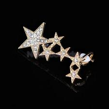1pc Fashion Right Ear Cuff Wrap Rhinestone Clear Crystal Star Clip Stud Earring