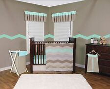 Trend Lab Cocoa Mint Baby Nursery Crib Bedding CHOOSE FROM 3 4 5 6 Piece Set NEW