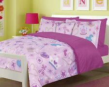 Girls Bedding Princess Ballerina Fairy Twin or Full Bed Comforter and Sheet Set
