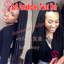 20Strands/pack Synthetic Hair Faux Soft Dreadlocs Twist Braids Havana Mambo 20""