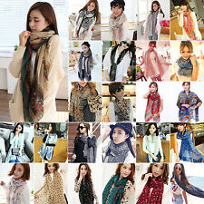 Women Soft Long Wrap Autumn Fall Cozy Ladies Floral Large Shawl Neck Stole Scarf