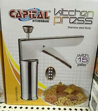 Capital Kitchen Press With 15 Different types of Jalies Bhujiya Maker new