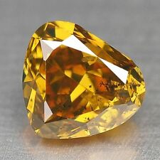 Loose Diamond Fancy Yellow Orange Diamond Pear Shape 0.53 cts F631
