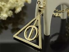 8 x Gold Harry Potter Deathly Hallows Necklaces Wholesale Joblot Jewellery :'