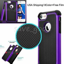 For iPhone 7/7 plus Hard Bumper Soft Silicone Rubber 360 Shockproof Case Cover
