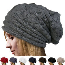 Women Winter Warm Beanie Knit Crochet Ski Hat Oversized Baggy Long Slouchy Cap