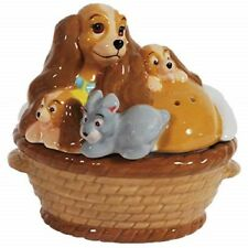 Disney Lady and the Tramp Lady and Puppies Magnetic Salt and Pepper Shakers