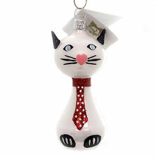 Golden Bell Collection CAT WITH POLKA DOT TIE Feline Kitty Christmas An739 Red