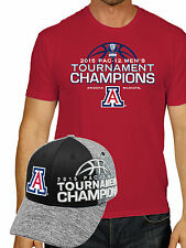 Arizona Wildcats 2015 Pac-12 Tournament Bball Champs Locker Room Shirt Hat