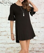 NWT Boutique Umgee Little Black Bell Sleeve Dress - Small, Medium & Large