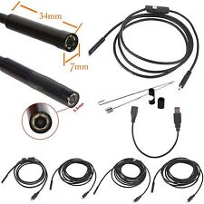 5.5mm 7mm Micro USB Waterproof Borescope Endoscope Inspection Camera For Android