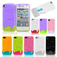 Snap On For Apple iPhone 4S 5S Protect 3D Melt Ice Cream Hard Back Case Cover