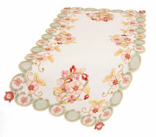Manor Luxe Primrose Embroidered Cutwork Table Runner Set of 4