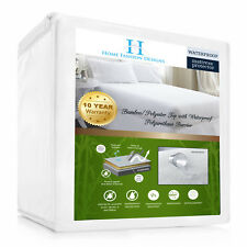 Home Fashion Design Aleena Deep Pocket Fitted Bamboo Mattress Protector