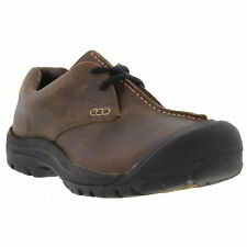Keen Boston III Mens Brown Leather Shoes Size UK 8-12