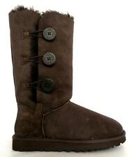 UGG BOOTS CLASSIC TALL CHOCOLATE TRIPLET BAILEY BUTTON W1873