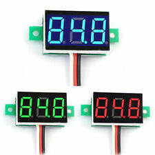 DC 0-100V LED 3-Digital Diaplay Voltage Voltmeter Panel Meter with 3 Wires Mini
