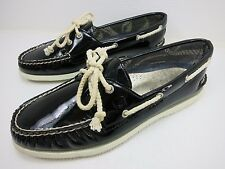 Sperry Top Sider Patent Leather Boat Deck Fashion Women's Shoes Footwear 9 M
