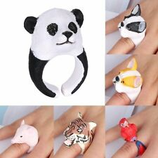 1Pc 3D Fashion Womens Lovely Cute Stereo Animal Adjustable Silicone Ring Gifts