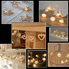 20/30/100 LED Battery & Plug Micro Rice Wire Copper Fairy String Lights Party UK
