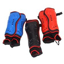 Youth Football Soccer Hockey Shin Pads Guards Padded Protector Ankle Support