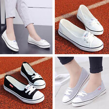 Women Canvas Flats Loafers Casual Breathable Flats Slip Comfy Shoes Fashion