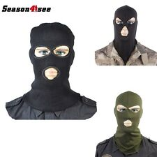 3 Hole Face Mask Ski Mask Winter Cap Balaclava Hood Army Tactical Mask 3 Color