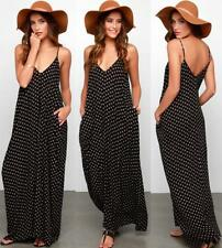 Women Sexy Boho Summer Casual Chiffon Floral Evening Party Beach Long Maxi Dress
