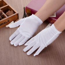 3/5/10 Pairs White Inspection Cotton Lisle Work Gloves Coin Jewelry Lightweight