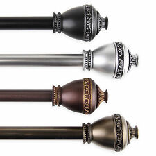 """Curtain Rod 3/4"""" OD #95 choose from 4 colors & 4 sizes 28""""-170"""""""