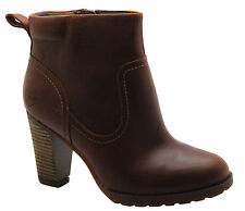 Timberland Earthkeepers EK Stratham Ankle Womens Heeled Boots Brown 8614A D98