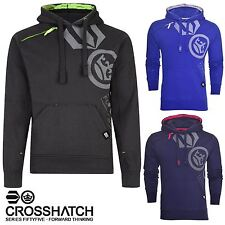 New Mens Crosshatch Pacific Hoodie Hooded Top Sweatshirt Fleece Pullover Jumper