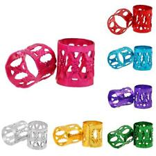 100pcs Colorful Dreadlock Beads Adjustable Hair Braid Rings Cuff Clips Styling