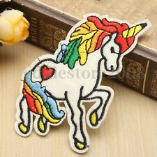2xUnicorn Horse Pony Rainbow Embroidered Badge Sew Iron on Patch Fabric Applique