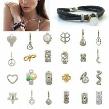 New 5pcs Fashion Women Silver Gold  Charm Jewelry Beads Pendant For Bracelet