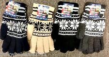 ADULT DOUBLE INSULATED SNOWFLAKE GLOVE (Wholesale Lot of 24 Pairs)