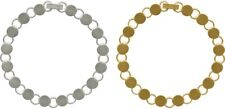 """BRACELET BLANKS Forms ~ 16 Small 7mm Round PADS  ~ You glue cabs or beads 7-1/4"""""""