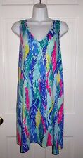 NWT LILLY PULITZER MULTI LIGHT AS A FEATHER BLYTHE SWING DRESS L XL  RUNS LARGE