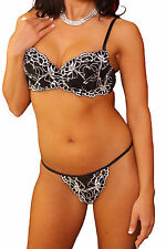 Lovely Day Lingerie Padded Underwire Lace Bra/Thong Set