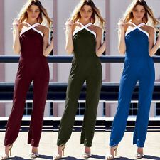 Sexy Womens Sleeveless Bandage Stretch Bodycon Backless Jumpsuits Rompers B