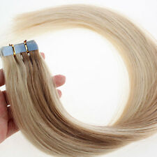 20PCS PU Seamless Skin Tape In Ombre Remy Human Hair Extensions Straight  27/613