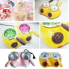 Electric Double Oven Chocolate Cheese Melting Pot Boiler Fondue Heater Set