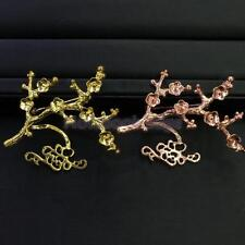 Plum Blossom Safety Brooch Pin Lapel Broach Back Base Jewelry Gold / Rose Gold