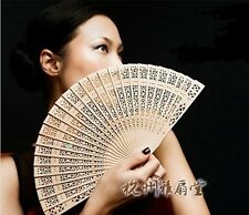 Retro Exquisite Hollow Sunflower Stylish fold Fan original Wooden Hand gift