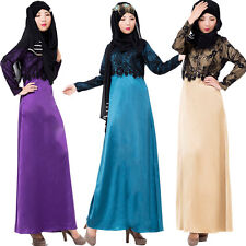 Women Long Dress Muslim Islamic Abaya Kaftan Cocktail maxi dress Scarf Hijab LOT