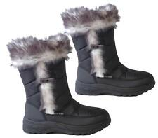 LADIES WOMENS FUR LINED GRIP SOLE THERMAL SNOW BOOTS MID CALF WINTER MUCKER SHOE
