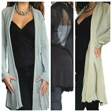 Ladies Cardigan Womens Long Sleeve Shrug Jacket Knit Top Size 8 10 12 14 16 18